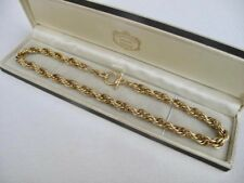 "NEW Unworn Vintage 9ct GOLD Plated 16.25"" ROPE Chain NECKLACE Not Scrap 34.9g"