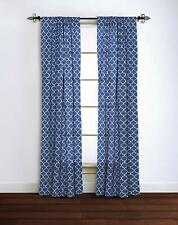 """Rizzy Home Moroccan Window Panel, 42"""" x 84"""", Blue/White"""