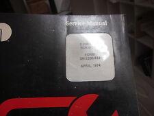 International E-200 412 Scrapers Service Manual