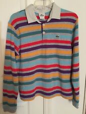 Lacoste Boys Long Sleeve Polo Shirt striped Size 16
