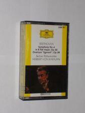 Beethoven Symphony No.4 Op.60/Op.84 Karajan Berliner PO. Cassette. Play Tested.