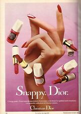 1981 Christian Dior Cosmetics Makeup Print Advertisement Ad Vintage VTG 80s