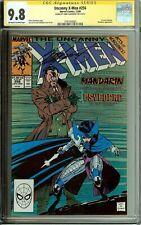 Uncanny X-Men #256 Signed Chris Claremont CGC 9.8