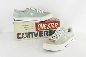 NOS Vtg 90s Converse One Star Suede Oxford Shoes Baby Blue Womens 7.5 Mens 5.5