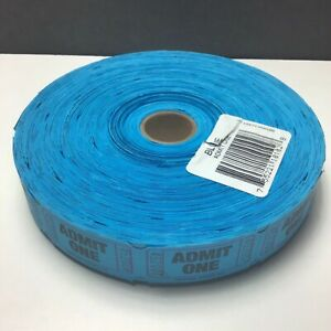 Admit One Roll / 2000 Blue Tickets / Each Numbered / Drawings Raffles Carnivals