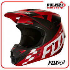 CASCO MOTO CROSS ENDURO FOX V1 SAYAK MATT RED TAGLIA S M L
