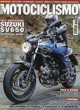 Motociclismo 2016 3 marzo#Suzuki SV650,qqq