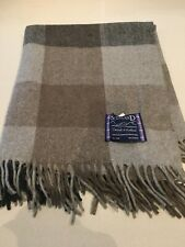Tweeds of Scotland Wool Knee Rug Blanket Grey Brown Check Tartan Scottish Throw
