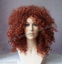 Auburn Red Afro Spiral Curls Fizz  Wig/wigs