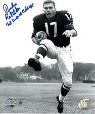 Richie Petitbon Autographed 8x10 Chicago Bears 1963 World Champion