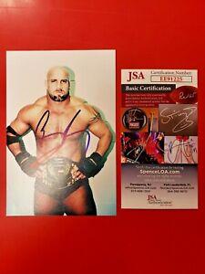 Bill Goldberg Signed 4x6 Photo JSA COA WCW