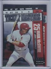 MARK McGWIRE/BRIAN JORDAN 1998 Leaf Rookies and Stars Ticket Masters  (B8642)