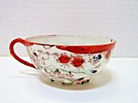 Vintage Hand Painted Japanese Red Trimmed Tea Cup