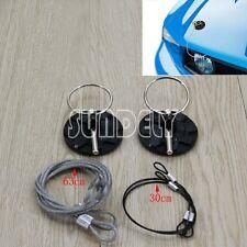 Universal Vehicle Racing Tuning Look Flush Hood Bonnet Pin Lock Kit Black