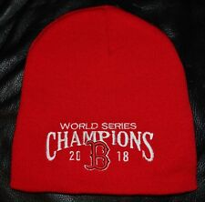 Boston Red Sox 2018 World Series campeones Rojo Invierno Gorro Sombrero de  punto 842516bd809