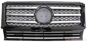 W463 90-12 Front Grille Mercedes Benz G-Class G500 G550 G55 AMG Chrome & Black