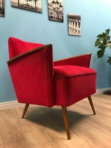 phantastischer Mid Century Sessel Armlehnsessel Vintage 50er 60er Jahre alt