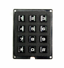 2pc Telephone Panel Keyboard Black 4x3 Array 12 key Momentary Pushbutton switch