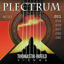 Thomastik Infeld AC111 Plectrum Bronze FlatWound Acoustic Guitar Strings 11-50