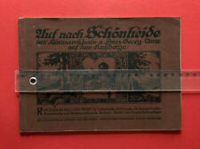 altes Wanderbuch von SCHÖNHEIDE im Erzgebirge Umgebung von 1917 ( F19324