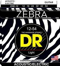 DR Strings Zebra Acoustic Electric Guitar Strings ZAE-12 - Medium 12-54