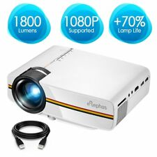 ELEPHAS LED Movie Projector, Support 1080P 150'' Portable Mini Projector Theater
