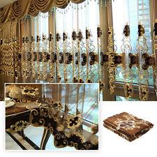 Luxury European Style Chenille Jacquard Window Sheer Curtain 1.0m w x 2.8m h