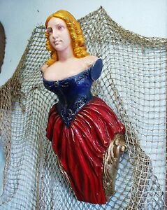 JENNY LIND SHIPS FIGUREHEAD NAUTICAL DECOR FOLK ART