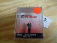 H0 Preiser 28028 Ludwig Erhard 1897-1977. figura. OVP