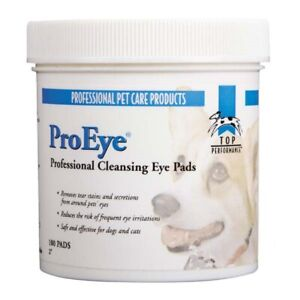 100 Top Performance ProEye PROFESSIONAL EYE CLEANING PADS TEAR STAIN Wipes PET