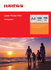 Hartwii 100 Sheets Overhead Projector OHP Film Acetate Clear A4 for Laser Print