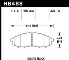 Hawk Disc Brake Pad-SC 4WD Front for Nissan Frontier / Xterra # HB488Y.629