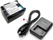 Battery & Charger for BP-808 Canon iVIS FS10 FS21 FS300 FS40 FS400 HG21 XA10 new