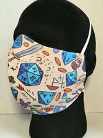 Handmade Cotton Face Mask Adult Large with Filter Pocket - DND