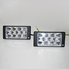 "2X 7""LED Car Daytime Running Light DRL Daylight Rectangle Style Car Van Pick Up"