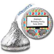 Video Game Time - Personalized Hershey Kiss Birthday Party Sticker Labels - 108