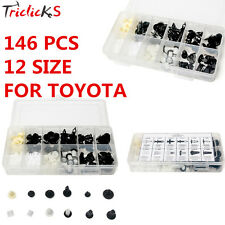 146Pcs Plastic Fender Liner Fastener Rivet Push Clips Retainer For Toyota Series