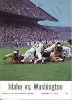 1965 (Sep.18) College Football Program, Idaho Vandals @ Washington Huskies
