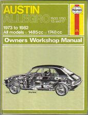 Austin Allegro 1500 & 1750 1.5 & 1.7 Haynes Owners Workshop Manual 1973-82