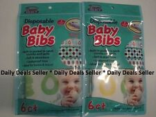 12 Parents Select Disposable Baby Bibs Assorted Patterns Home or Travel NIP