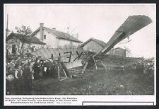 GROß GERAU, Ausschnitt 1912, Flugzeug Notlandung, Absturz, Unfall, Unglück, /170