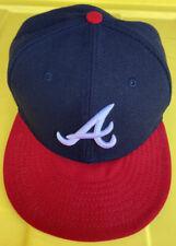 Atlanta Braves New Era Hat Cap Size 7 1/4 Official On Field Cap Authentic