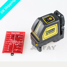 U.S.Solid Self Leveling Cross Line Laser Level Meter 2 Line+Bracket+Target Plate