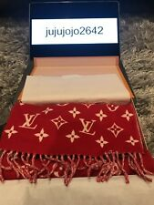 ** Louis Vuitton X Supreme Red Cashmere Wool/Cashmere Men's Scarf **