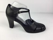 "HILLARD & HANSON Women's Size 9.5 M Black Leather 3.5"" Heels Closed Toe Shoes"
