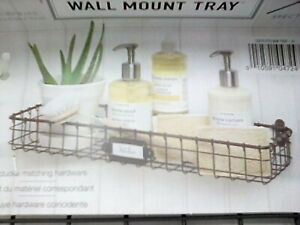 Lot of 4 Spectrum Diversified Vintage Mount Tray, Slim Wall Basket Shelf