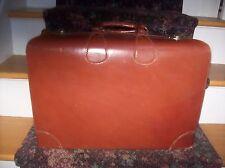 Vintage/ Antique Saddle Leather Suitcase AEM 21 X 15 X 6.5
