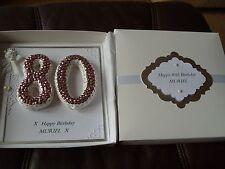 Handmade Personalised Keepsake 80th Birthday Card