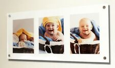 """Cheshire Acrylic multi wall mount picture photo frame for 10 x 8 """"/ 8 x 10"""