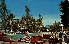 San Juan Puerto Rico Americana Hotel swimming pool US Air Mail Briefmarken Stamp